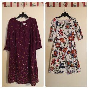 2 girls Old Navy dresses